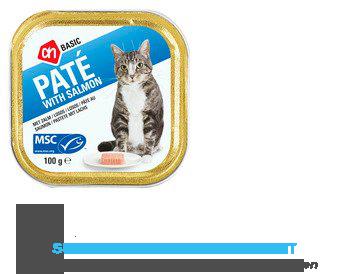 AH BASIC Paté met zalm en forel (voor de kat) aanbieding