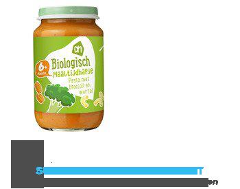 AH Biologisch Maaltijdhapje pasta-broccoli- wortel 6 aanbieding