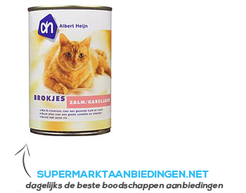 AH Brokjes zalm-kabeljauw (voor de kat) aanbieding