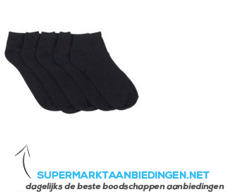 AH Dames enkelsokken multi zwart maat 35-38 aanbieding