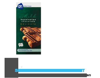 AH Delicata melkchocolade hazelnoten aanbieding