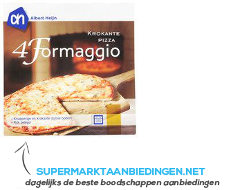 AH Krokante pizza 4 kazen aanbieding