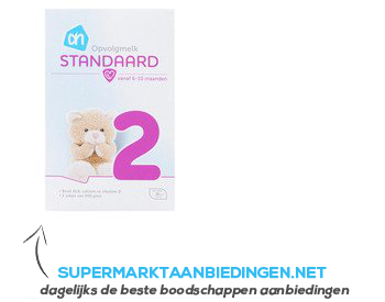 AH Standaard 2 opvolgmelk aanbieding