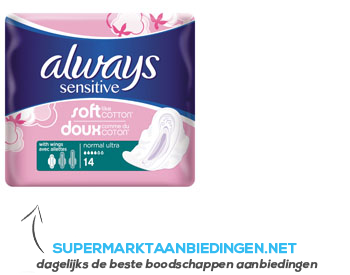 Always Sensitive normal plus single pack aanbieding