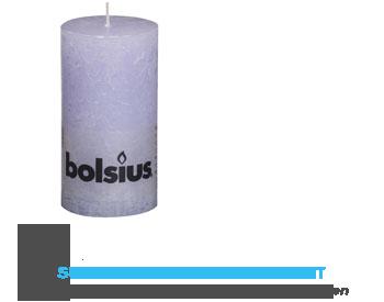 Bolsius Stompkaars rustiek pastel paars 13 cm aanbieding
