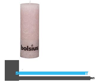 Bolsius Stompkaars rustiek zacht roze 19 cm aanbieding