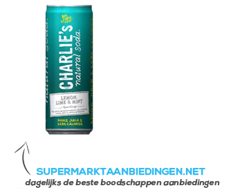 Charlie's Natural Soda lemon, lime & mint