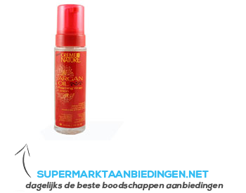 Cream of Nature Argan foaming wrap lotion aanbieding