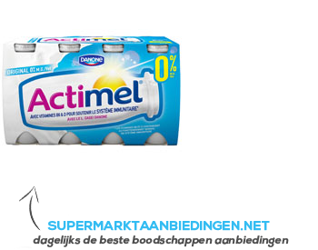Danone Actimel naturel 0% aanbieding