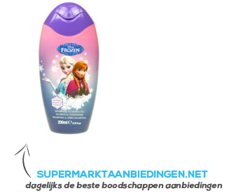 Disney Frozen shampoo & conditioner gel aanbieding