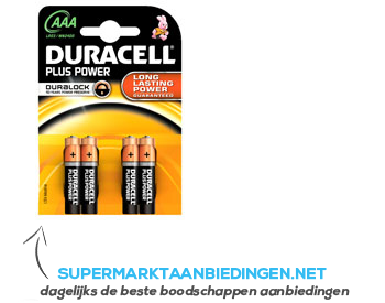 Duracell Batterijen AAA plus power aanbieding