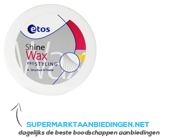 Etos Shinewax aanbieding