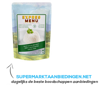 Expres Menu Maaltijd rijst glutenvrij aanbieding