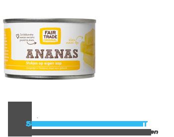 Fair Trade Original Ananas stukjes op eigen sap aanbieding