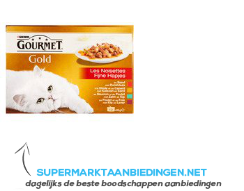 Gourmet Gold fijne hapjes 12 porties aanbieding