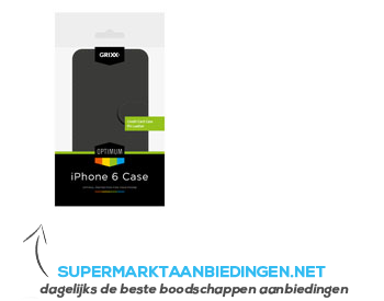 Grixx Case iPhone 6 black aanbieding