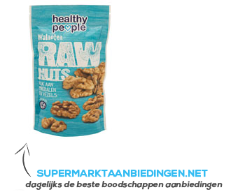 Healthy People Raw nuts walnoten aanbieding