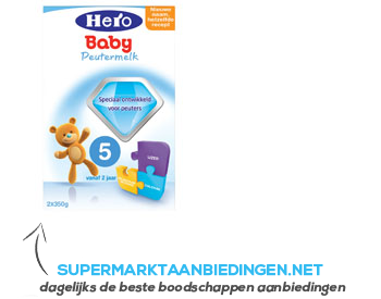 Hero Baby 5 peutermelk aanbieding