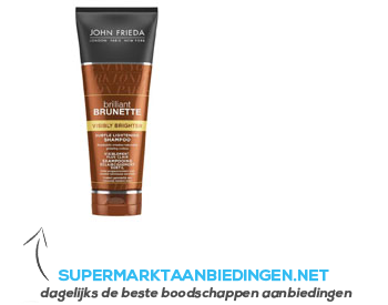 John Frieda Shampoo brilliant brunette brighter aanbieding