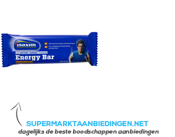 Maxim Crunchy cookie energy bar aanbieding
