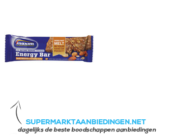 Maxim Oats, almonds and salty nuts energy bar aanbieding