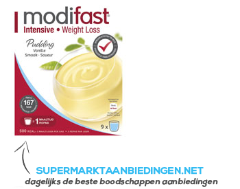 Modifast Pudding vanille aanbieding