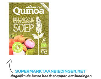 Nature Crops Quinoa vegetable soup bio aanbieding