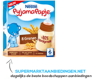 Nestlé Pyjamapapje 8 granen gebruiksklaar 6 mnd aanbieding