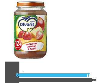 Olvarit Fruitmoes aardbei/ appel 12 mnd aanbieding