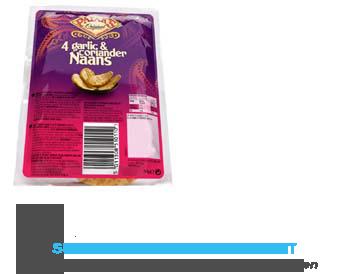 Patak's 4 Mini naans knoflook/ koriander aanbieding