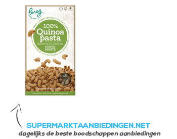 Pereg Quinoa pasta curvo rigate aanbieding