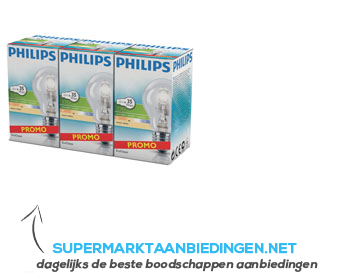 Philips Eco classic warmwit 370 lumen dim 35W aanbieding