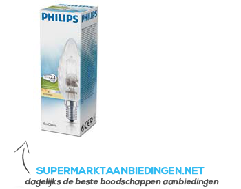 Philips EcoClassic halolamp gedraaide kaars 23W aanbieding