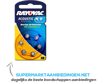 Rayovac Acoustic special 10 aanbieding
