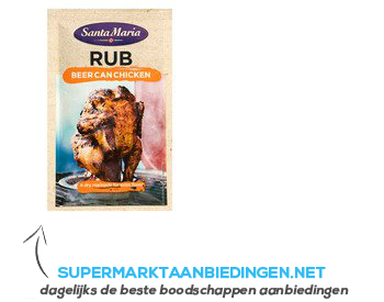 Santa Maria Rub beer can chicken aanbieding