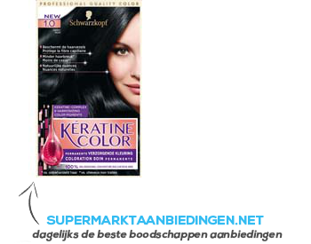 Schwarzkopf Keratine color 1.0 zwart aanbieding