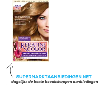 Schwarzkopf Keratine color 7.5 caramelblond aanbieding
