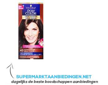 Schwarzkopf Poly color haarverf donkerbruin 43 aanbieding