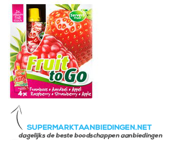 Servero Fruit to go framboos-aardbei- appel aanbieding