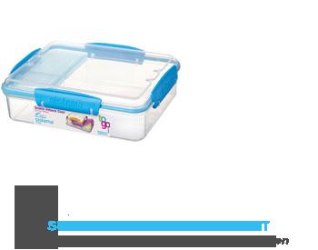 Sistema Snack attack duo blauw 975 ml aanbieding