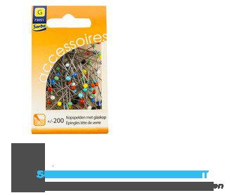 Sorbo Kopspelden met glaskop /- 200 stuks aanbieding