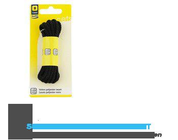 Sorbo Veters polyester zwart 120 cm aanbieding