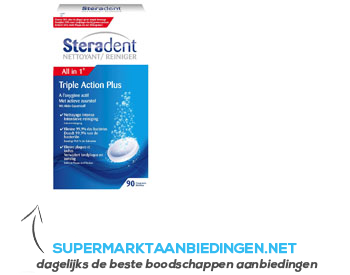 Steradent Triple active plus aanbieding