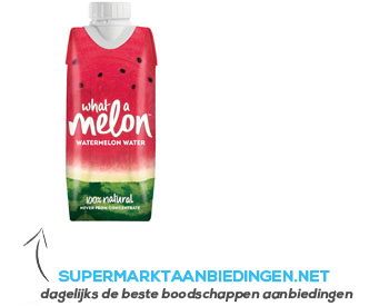 What a Melon Watermelon water