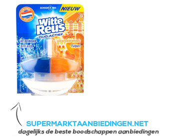 Witte Reus Toiletblok duo actief oranje editie aanbieding