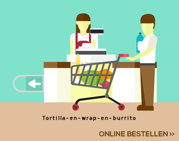 Tortilla en wrap en burrito aanbieding